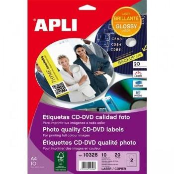 ETIQUETA CD-DVD LASER Y FOT.117 10H