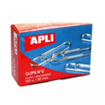 CLIPS APLI Nº 2 32 MM.  PLATEAD