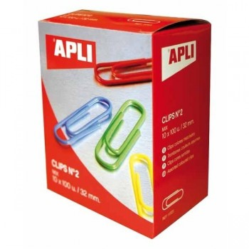 CLIPS APLI Nº 2 32 MM. COLOR.SURTID