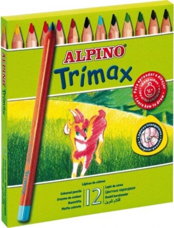 LAPICES COLOR ALPINO TRIMAX DE 12 COLORES