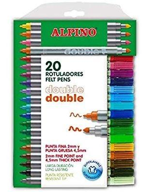 ROTULADORES ALPINO DOBLE 20UDS.