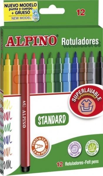 ROTULADORES ALPINO 12 UDS