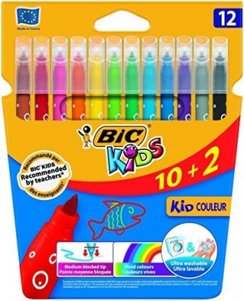 ROTULADORES BIC KIDS 10+2 COLOR