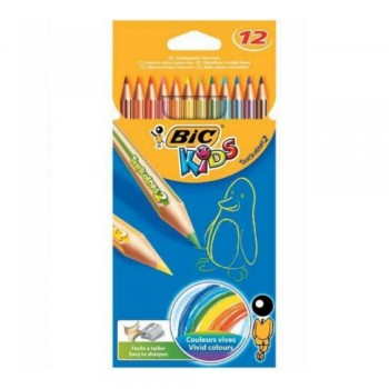 LAPICES COLOR BIC KIDS TROP 12 UDS.