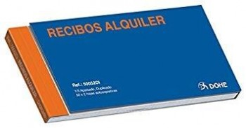 TALONARIO RECIBO ALQUILER 1/3 DUPLI