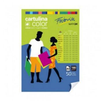 CARTULINA  A4 180GR VERDE LAGO.100H