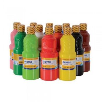 TEMPERA ESCOLAR 500 ml. GIOTTO LAVABLE