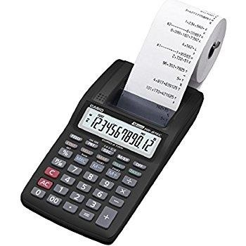 CALCULADORA IMPRESORA CASIO DIGITOS A PILAS HR-8TEC