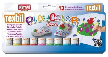 TÉMPERA SÓLIDA PLAYCOLOR ONE TEXTIL 12 UDS
