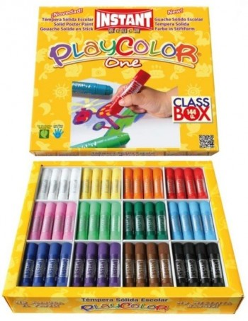 TEMPERA SOLIDA  PLAYCOLOR ONE 10GR 144 UDS