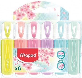 PACK ROTULADOR FLUORESCENTE MAPED 6 COLORES PASTEL