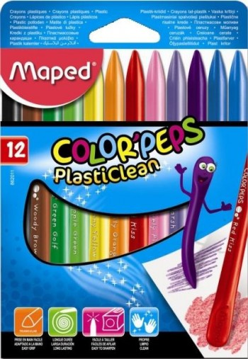 CERAS PLASTICAS 12 COLORES MAPED