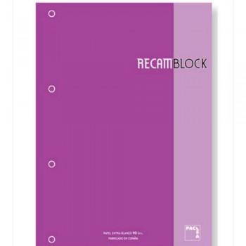 RECAMBIO PACSA A4 CUA.5X5 80 H. FUC