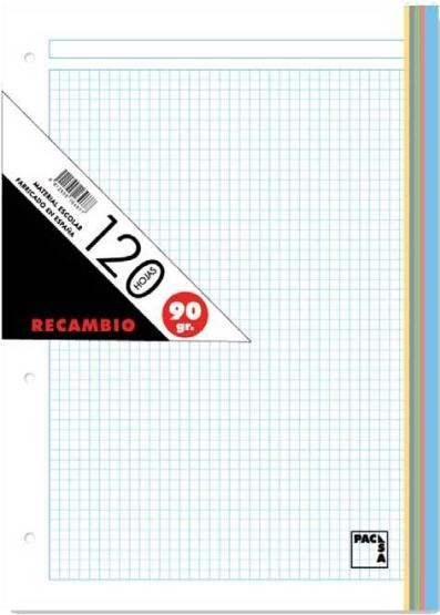 RECAMBIO PACSA A4 CUA.5X5 120H 5BAN