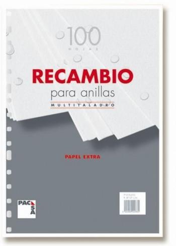 RECAMBIO PACSA 1/4 4 TALADROS 100 HOJAS