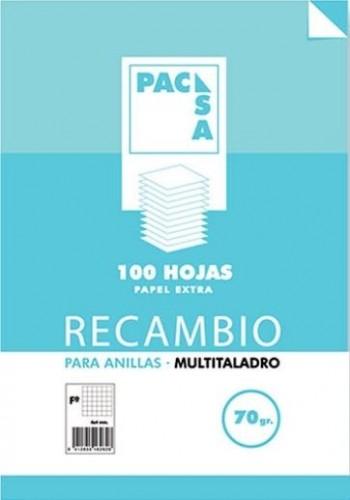 RECAMBIO PACSA  A4 4 TALADROS CUADRO 4X4 100H