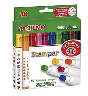 ROTULADORES ALPINO STAMPER 10 UDS.