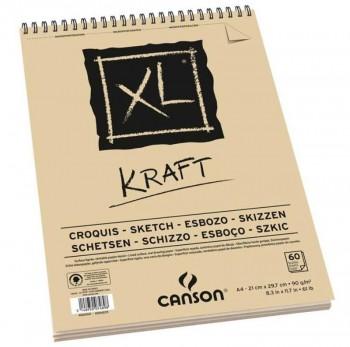 BLOCK CANSON XL KRAFT 90GR 60H
