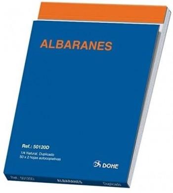 TALONARIO ALBARANES CUARTO NATURAL 100H DUPLICADO