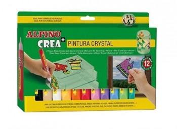 ALPINO CREA+ PINTURA CRISTAL 12 COLORES