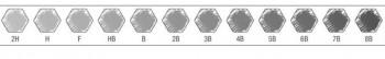 LAPICES FABER-CASTELL CAJA METAL 12 Y 6 GRADUACIONES 9000