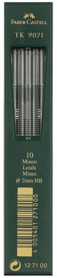 MINAS FABER CASTELL 2MM HB (10UDS)
