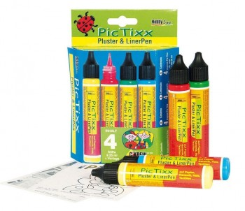 KIT PINTURA PIC TIXX RELIEVE 4 COLORES