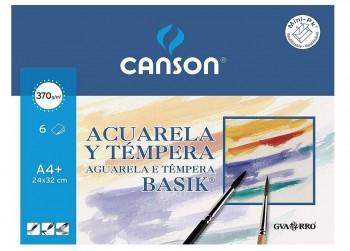 LAMINA ACUARELA A4+ PACK 6 U CANSON