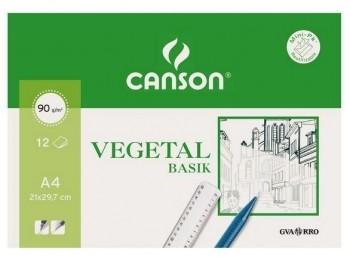LAMINA A4 VEGETAL 90gr. 12 H. CANSON