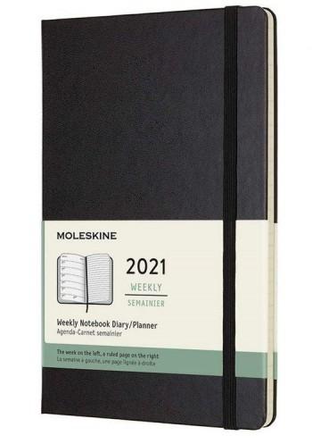 AGENDA MOLESKINE SEMANA VISTA 13X21cm TAPA DURA 2021