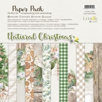 SET LAMINAS 12X12 LEMONCRAFT NATURAL CHRISTMAS
