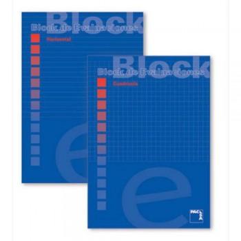 BLOCK EXAMEN A4 PACSA CUADROS O RAYAS 40 H.