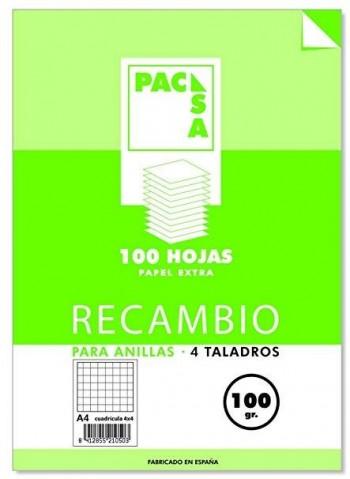 RECAMBIO PACSA A4 CUA. 4X4 100 GR.