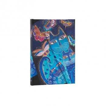 AGENDA PAPER BLANKS BLUE CATS & BUTTERFLIES MIDI (13 X 18 CMS) SV