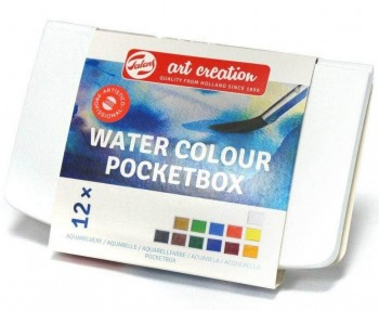 BOX ACUARELA POCKET 12 COLORES ART CREATIONS